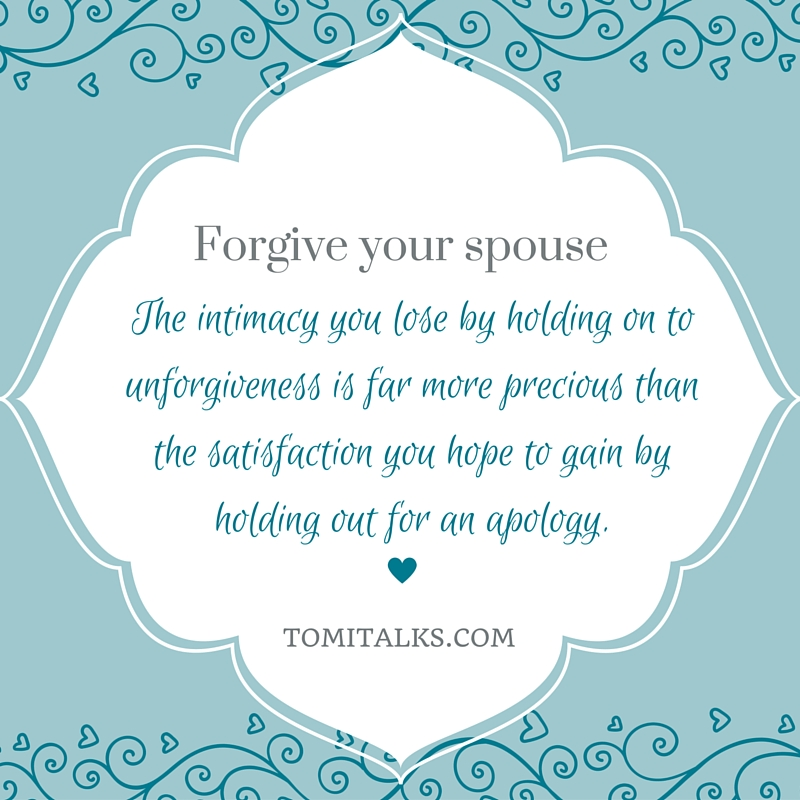 Forgive your spouse